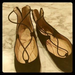 Faded glory black ballerina flats